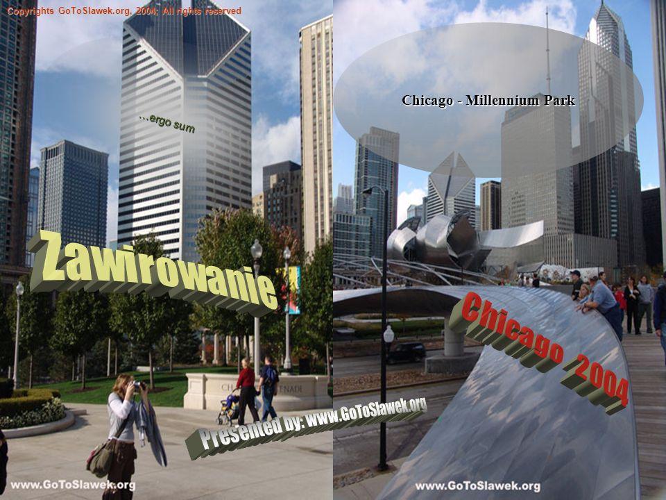 Chicago - Millennium Park Copyrights GoToSlawek.org, 2004; All rights reserved …ergo sum