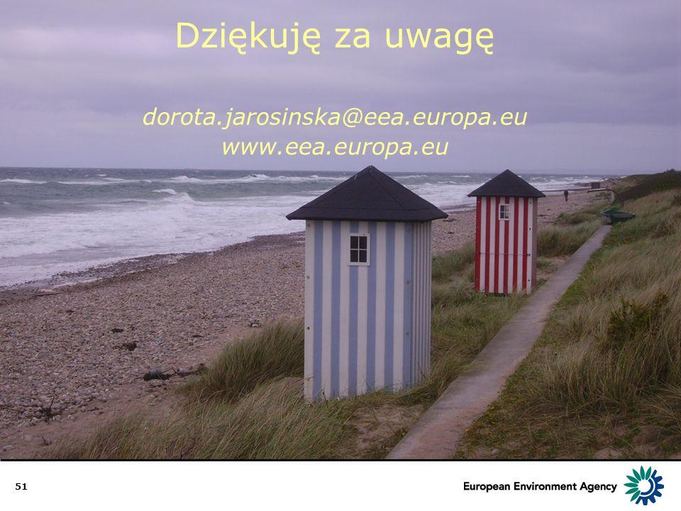 51 Dziękuję za uwagę dorota.jarosinska@eea.europa.eu www.eea.europa.eu