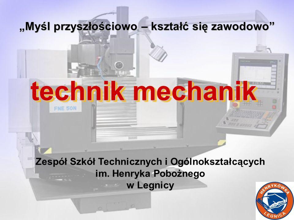 technik mechanik Myśl przyszłościowo – kształć się zawodowo Zespół Szkół Technicznych i Ogólnokształcących im.