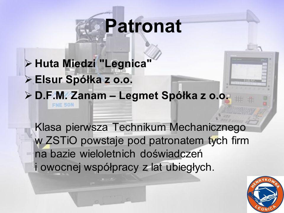 Huta Miedzi Legnica Elsur Spółka z o.o. D.F.M. Zanam – Legmet Spółka z o.o.