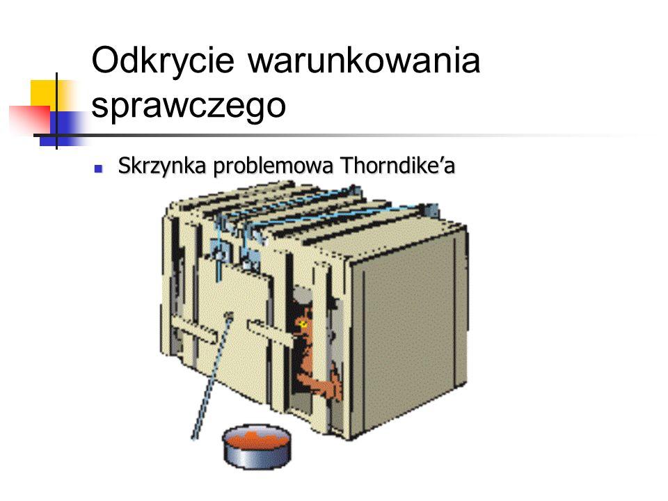 Odkrycie warunkowania sprawczego Skrzynka problemowa Thorndikea Skrzynka problemowa Thorndikea