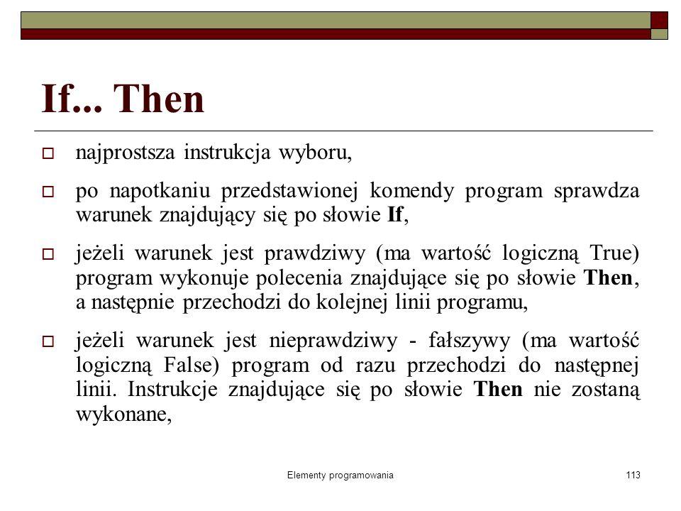 Elementy programowania113 If...