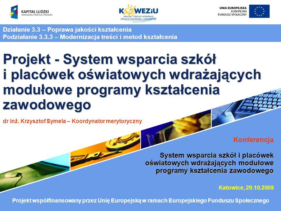 I.Projektowanie modułowego programu kształcenia zawodowego i pakietów edukacyjnych II.