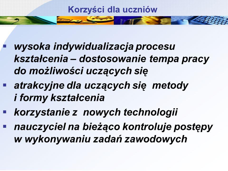 Kształcenie modułowe - ograniczenia Bariery prawne Trudności organizacyjne Warunki zatrudniania nauczycieli, specjalistów Wyposażenie szkół/placówek w nowoczesny sprzęt/środki dydaktyczne