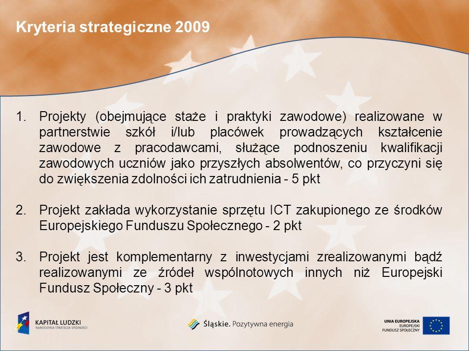 Kryteria dostępu 2010 1.Maksymalny okres realizacji projektu wynosi 24 miesiące, z wyłączeniem projektów badawczych, których okres realizacji wynosi 18 miesięcy.
