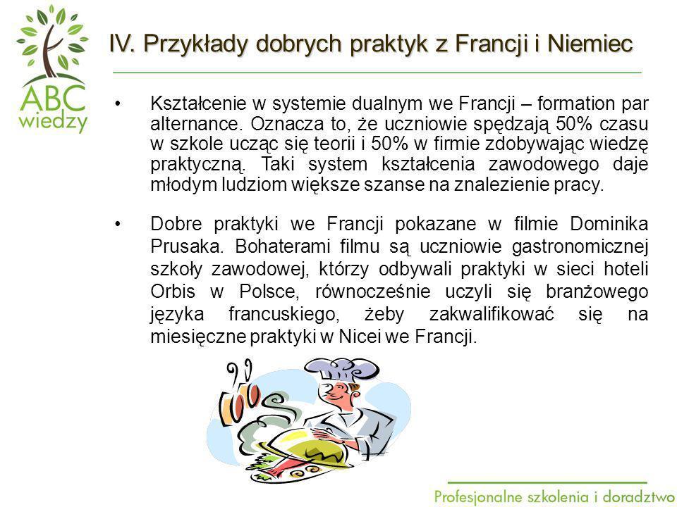 Kształcenie w systemie dualnym we Francji – formation par alternance.