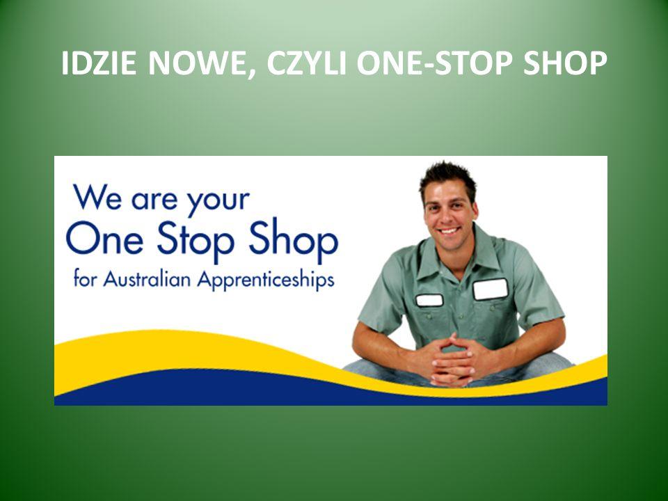 IDZIE NOWE, CZYLI ONE-STOP SHOP