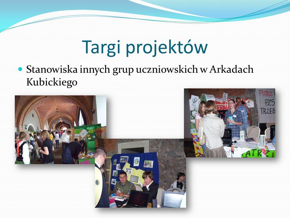 Targi projektów Stanowiska innych grup uczniowskich w Arkadach Kubickiego