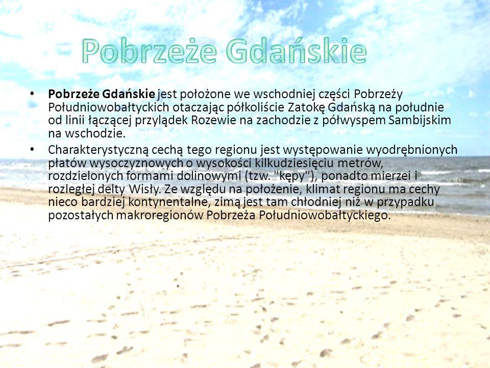 Pobrzeże Gdańskie jest położone we wschodniej części Pobrzeży Południowobałtyckich otaczając półkoliście Zatokę Gdańską na południe od linii łączącej
