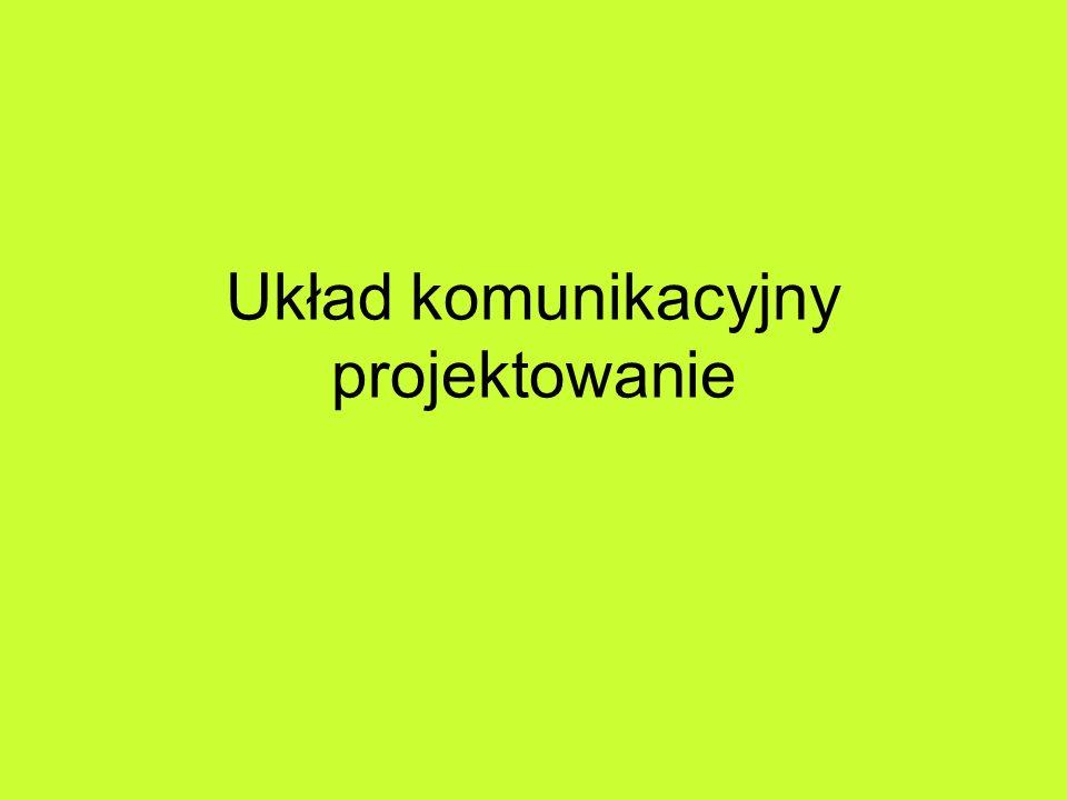 Funkcje układu komunikacyjnego w architekturze krajobrazu Układ dróg i placów: –B.