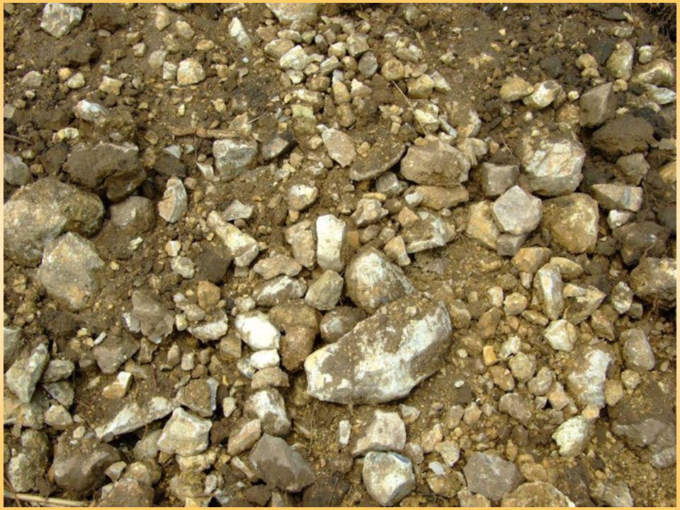 Wpływ frakcji na właściwości gleby kamienie i żwir Znaczna zawartość części szkieletowych w glebach lekkich wpływa ujemnie na ich właściwości fizyczne –Powodują zbytnią przewiewność i przepuszczalność Gleby takie: –Niska urodzajność –Utrudniona uprawa W glebach ciężkich ich domieszka zwiększa przewiewność gleby, jej zdolność ogrzewania oraz przepuszczalność