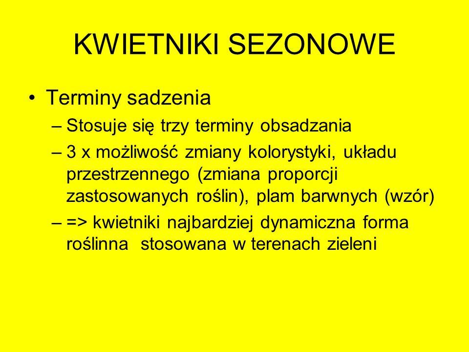 KWIETNIKI SEZONOWE Termin wiosenny Ok.