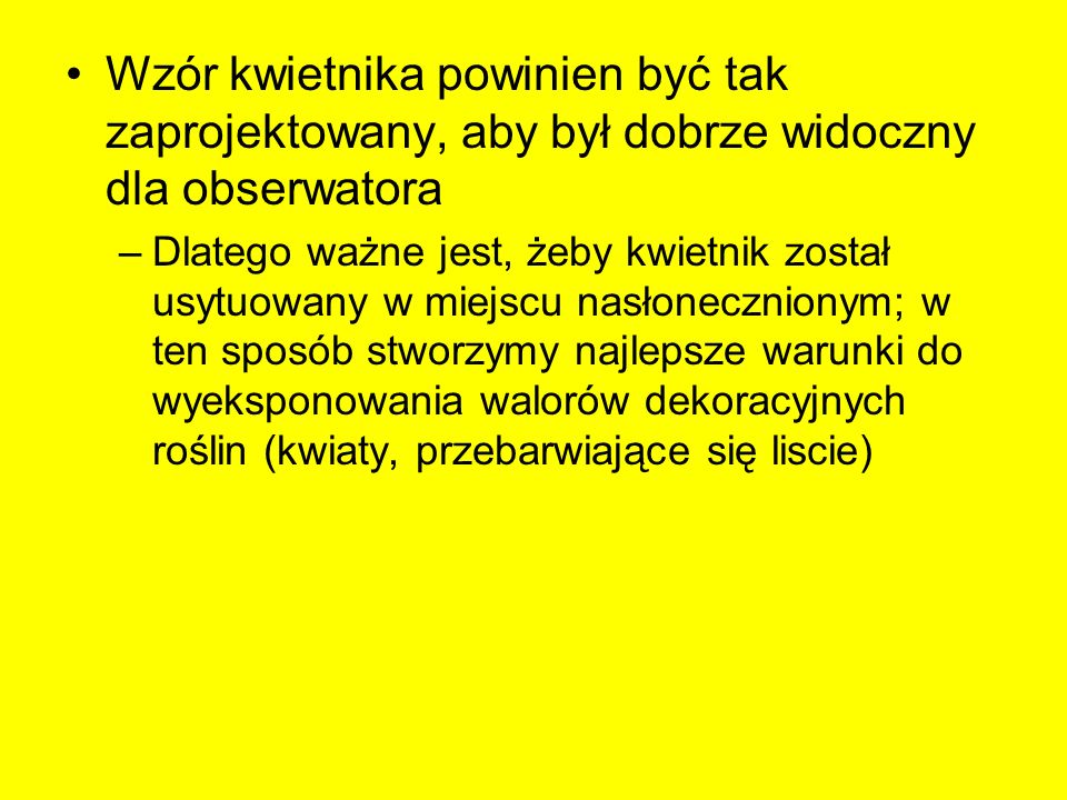 Etapy projektowania koncepcyjnego kwietników sezonowych 1.