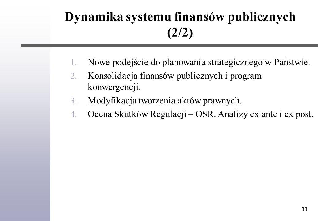 11 1. Nowe podejście do planowania strategicznego w Państwie.