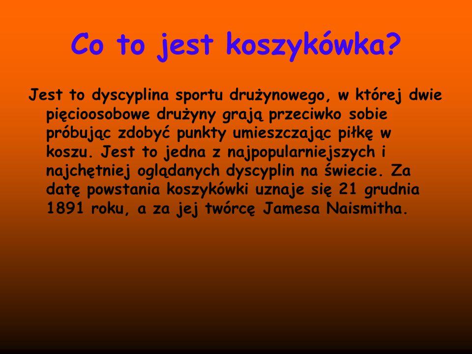 Co to jest koszykówka? Jest to dyscyplina sportu drużynowego, w której dwie pięcioosobowe drużyny grają przeciwko sobie próbując zdobyć punkty umieszc