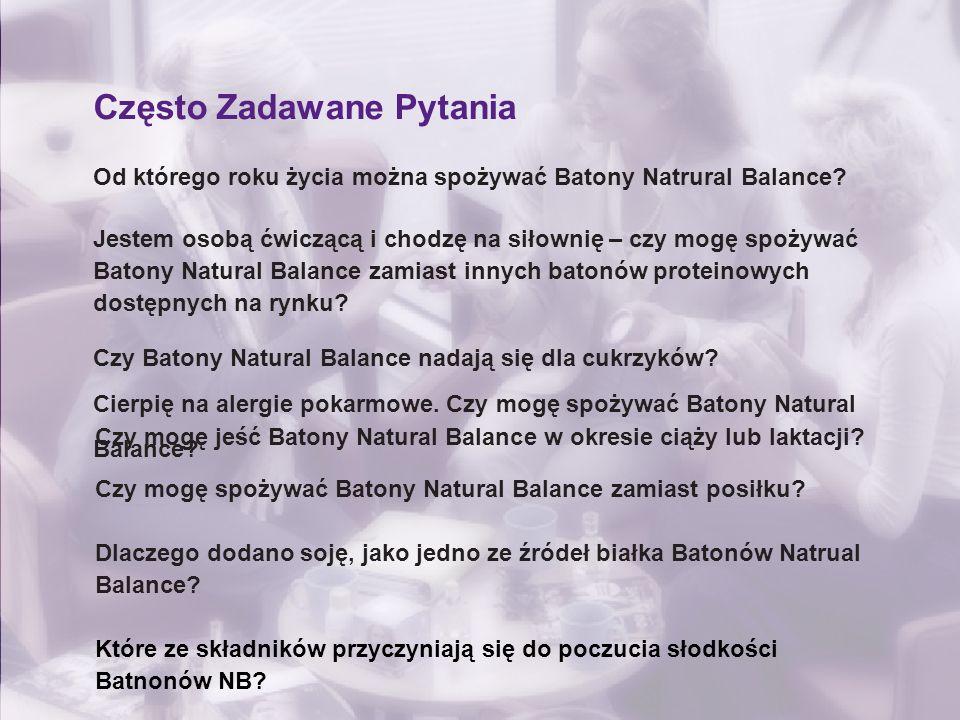 Często Zadawane Pytania Od którego roku życia można spożywać Batony Natrural Balance? Jestem osobą ćwiczącą i chodzę na siłownię – czy mogę spożywać B