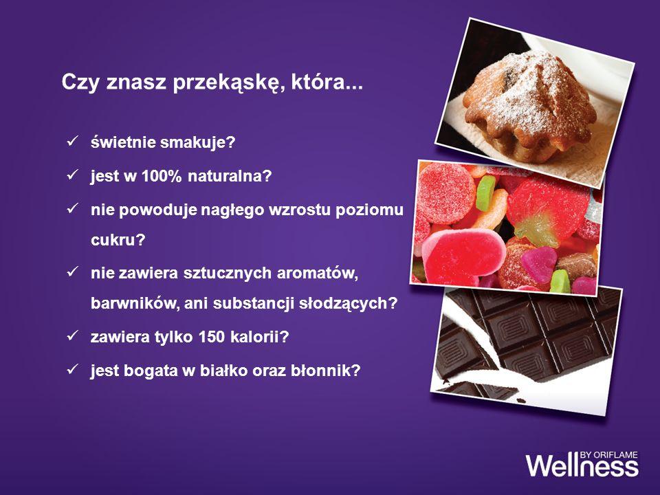 świetnie smakuje? jest w 100% naturalna? nie powoduje nagłego wzrostu poziomu cukru? nie zawiera sztucznych aromatów, barwników, ani substancji słodzą