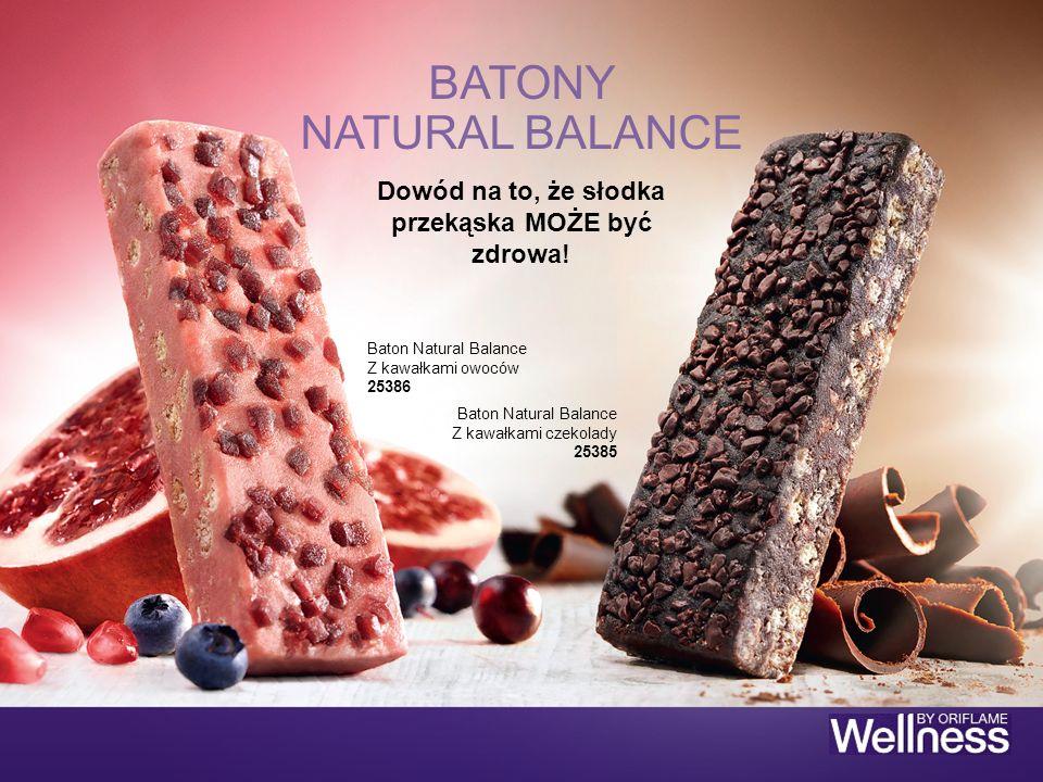 Dowód na to, że słodka przekąska MOŻE być zdrowa! BATONY NATURAL BALANCE Baton Natural Balance Z kawałkami owoców 25386 Baton Natural Balance Z kawałk