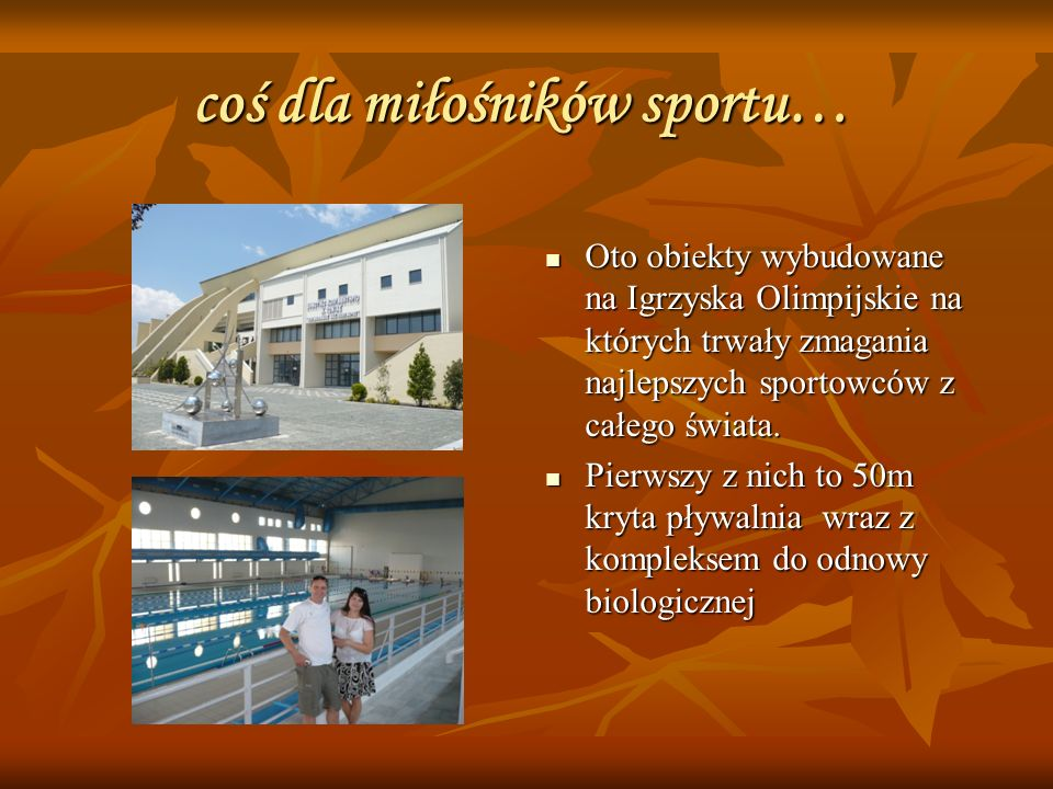 coś dla miłośników sportu… Oto obiekty wybudowane na Igrzyska Olimpijskie na których trwały zmagania najlepszych sportowców z całego świata.