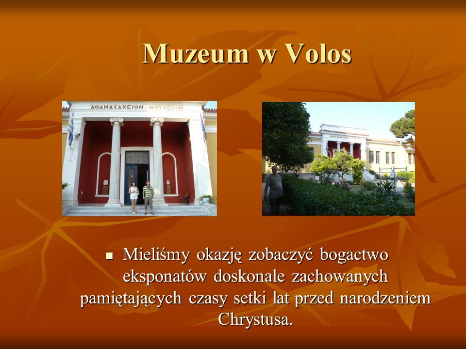Muzeum w Volos Mieliśmy okazję zobaczyć bogactwo eksponatów doskonale zachowanych pamiętających czasy setki lat przed narodzeniem Chrystusa.