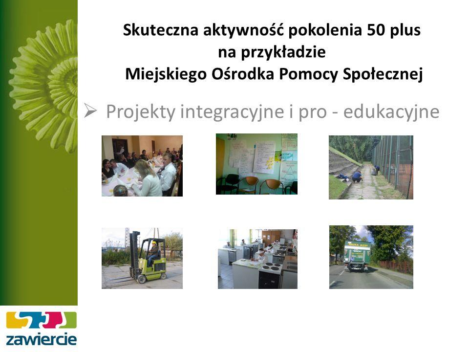 Skuteczna aktywność pokolenia 50 plus na przykładzie Miejskiego Ośrodka Pomocy Społecznej Projekty integracyjne i pro - edukacyjne