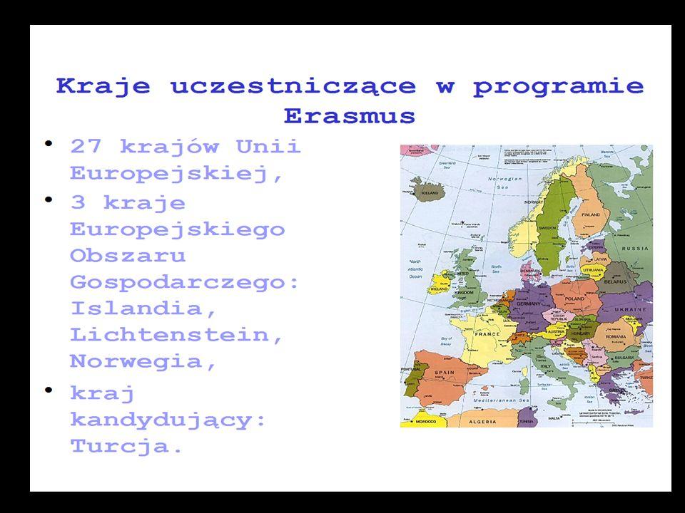 MOŻLIWE WYJAZDY w ramach Programu Erasmus dla studentów KPSW 1.