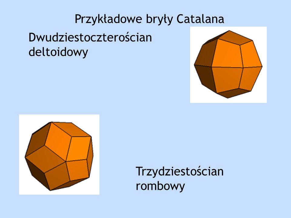 Dwudziestoczterościan deltoidowy Trzydziestościan rombowy Przykładowe bryły Catalana
