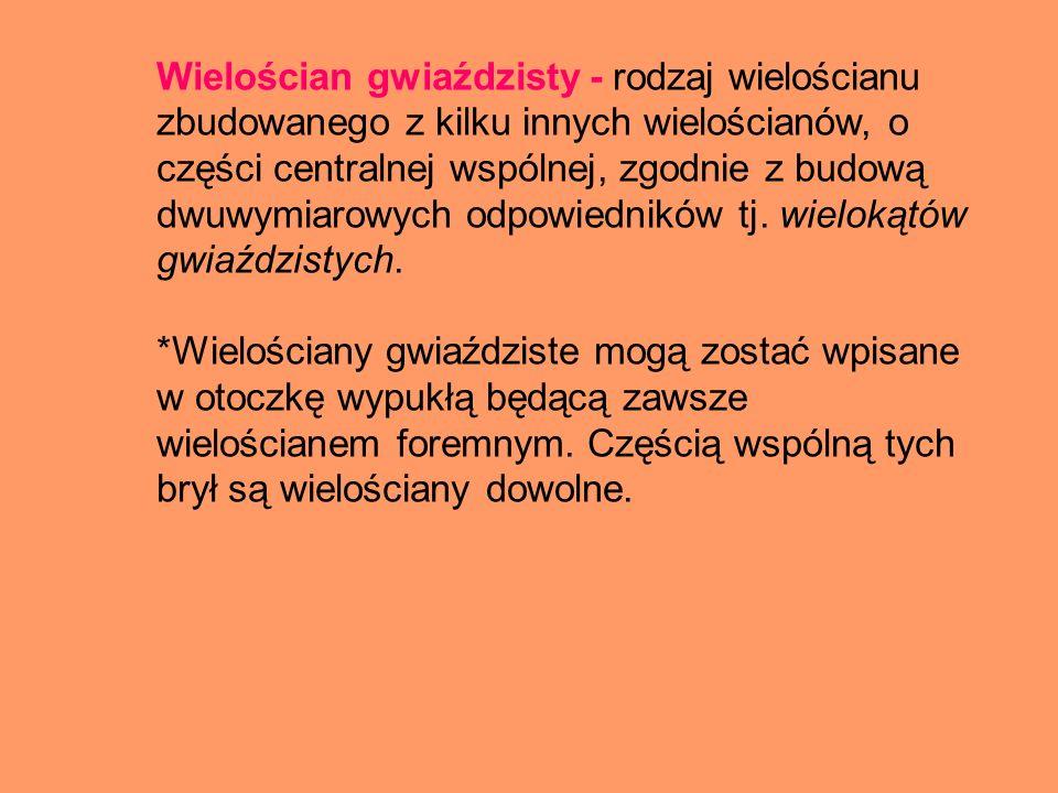 Wyróżniamy dwa rodzaje wielościanów : Wielościany gwiaździste foremne Wielościany gwiaździste dwu- foremne