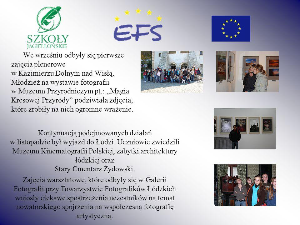 We wrześniu odbyły się pierwsze zajęcia plenerowe w Kazimierzu Dolnym nad Wisłą.