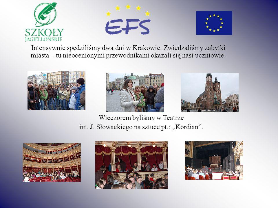 Intensywnie spędziliśmy dwa dni w Krakowie. Zwiedzaliśmy zabytki miasta – tu nieocenionymi przewodnikami okazali się nasi uczniowie. Wieczorem byliśmy