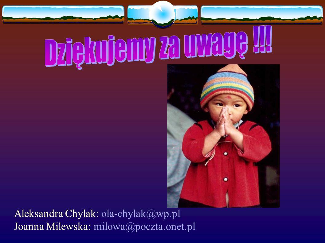 Aleksandra Chylak: ola-chylak@wp.pl Joanna Milewska: milowa@poczta.onet.pl