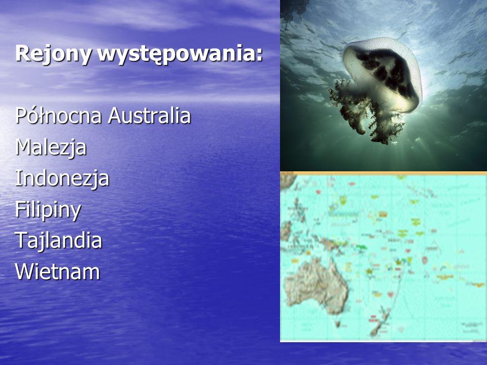 Rejony występowania: Północna Australia MalezjaIndonezjaFilipinyTajlandiaWietnam