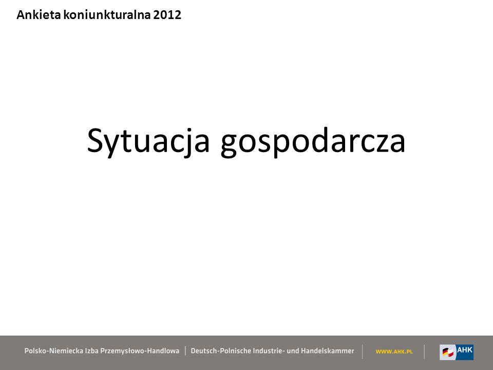 Kondycja polskiej gospodarki w oczach inwestorów Ankieta koniunkturalna 2012