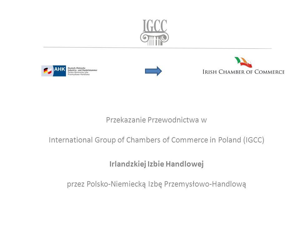 Przekazanie Przewodnictwa w International Group of Chambers of Commerce in Poland (IGCC) Irlandzkiej Izbie Handlowej przez Polsko-Niemiecką Izbę Przemysłowo-Handlową