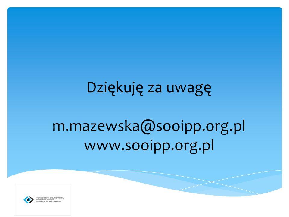 Dziękuję za uwagę m.mazewska@sooipp.org.pl www.sooipp.org.pl