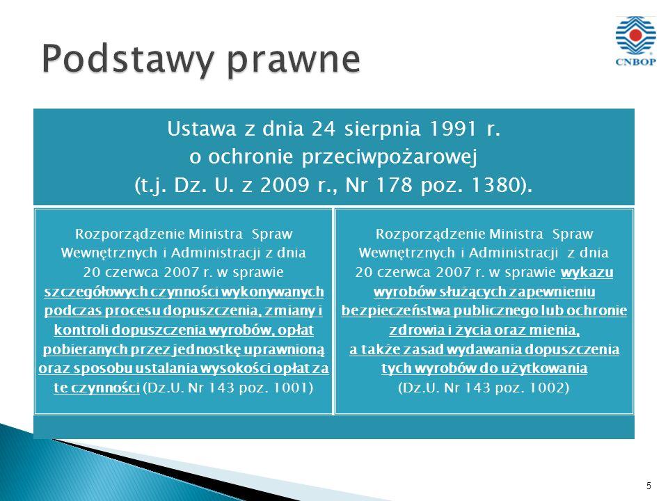 5 Ustawa z dnia 24 sierpnia 1991 r. o ochronie przeciwpożarowej (t.j.