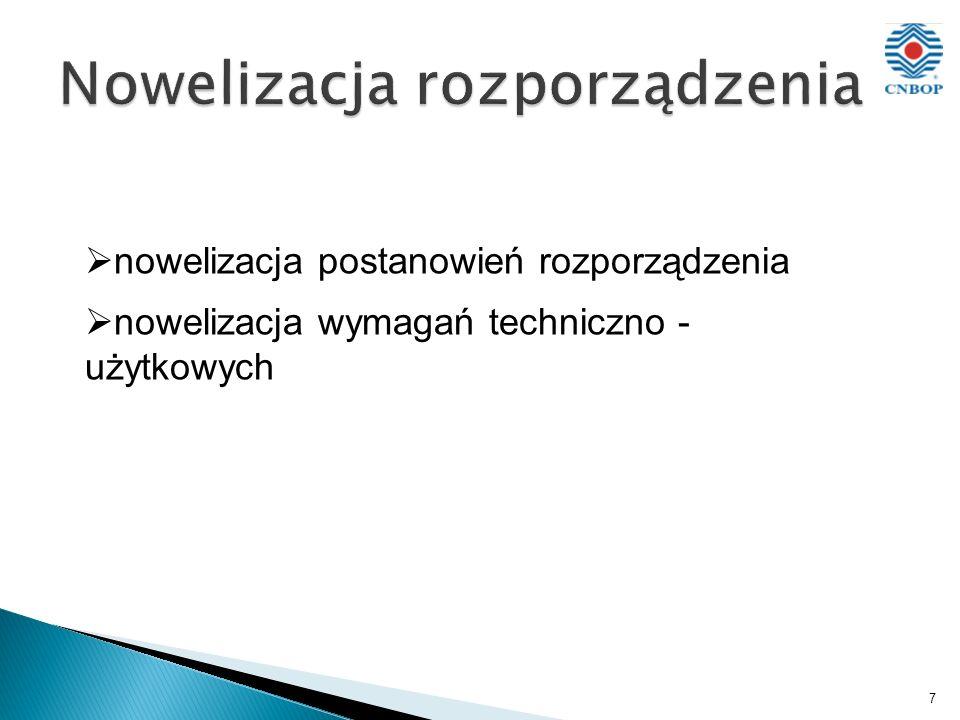 7 nowelizacja postanowień rozporządzenia nowelizacja wymagań techniczno - użytkowych