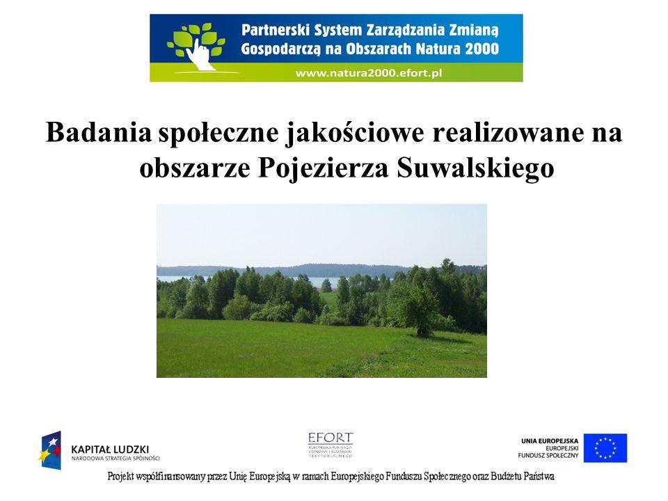 Badania społeczne jakościowe realizowane na obszarze Pojezierza Suwalskiego