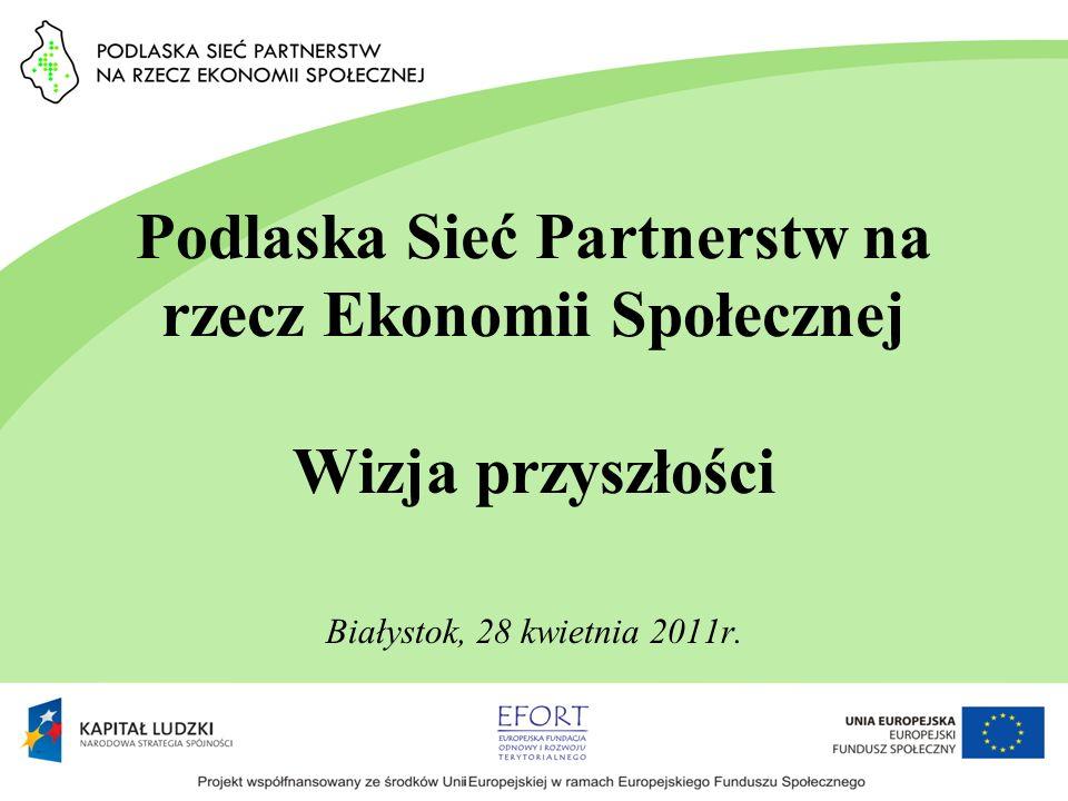 Podlaska Sieć Partnerstw na rzecz Ekonomii Społecznej Wizja przyszłości Białystok, 28 kwietnia 2011r.
