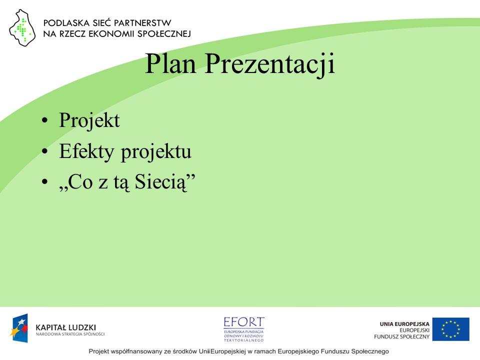 Plan Prezentacji Projekt Efekty projektu Co z tą Siecią