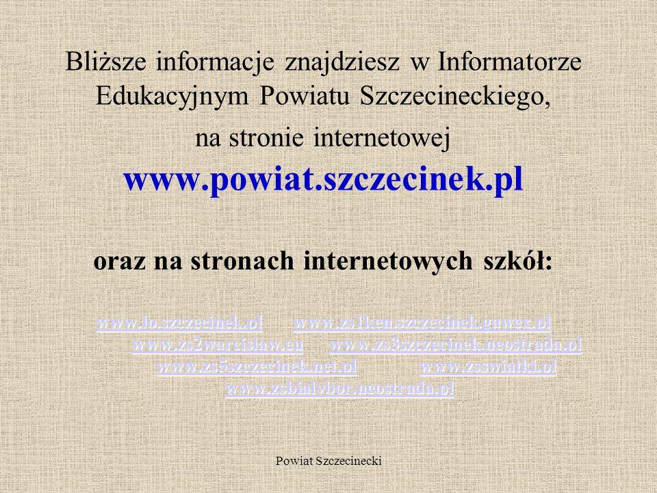 Powiat Szczecinecki i 3-letnich MECHANIK POJAZDÓW SAMOCHODOWYCH MONTER MECHATRONIK ELEKTROMECHANIK ELEKTROMECHANIK POJAZDÓW SAMOCHODOWYCH BLACHARZ SAM