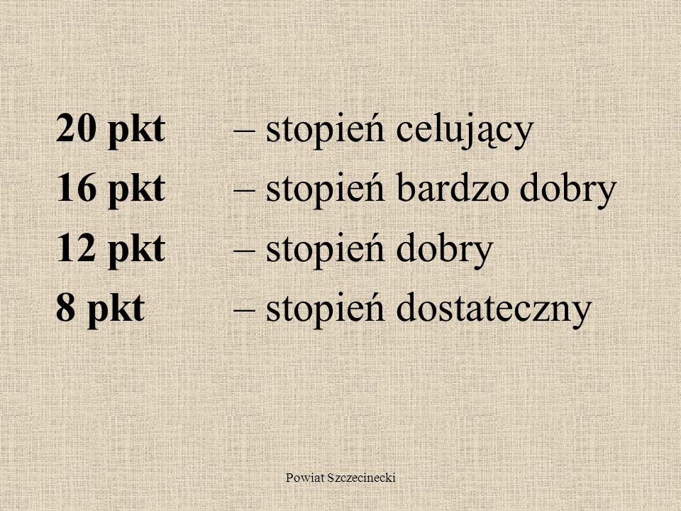 Powiat Szczecinecki Ile punktów za świadectwo. Oblicz.
