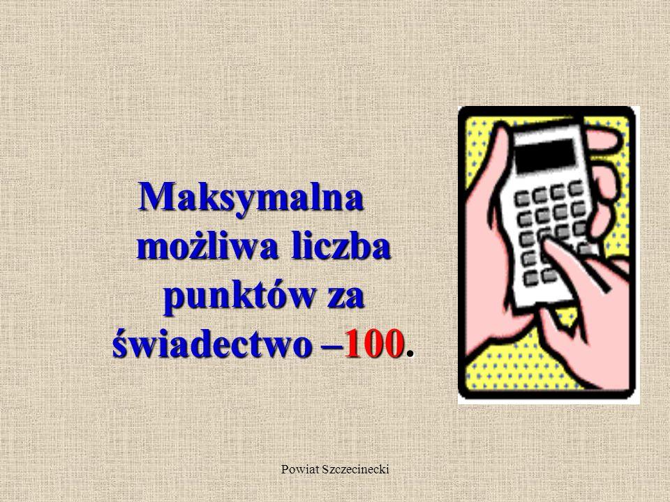 Powiat Szczecinecki 20 pkt kandydat otrzymuje za kryteria ustalone przez szkolna komisję rekrutacyjno- kwalifikacyjną (np.