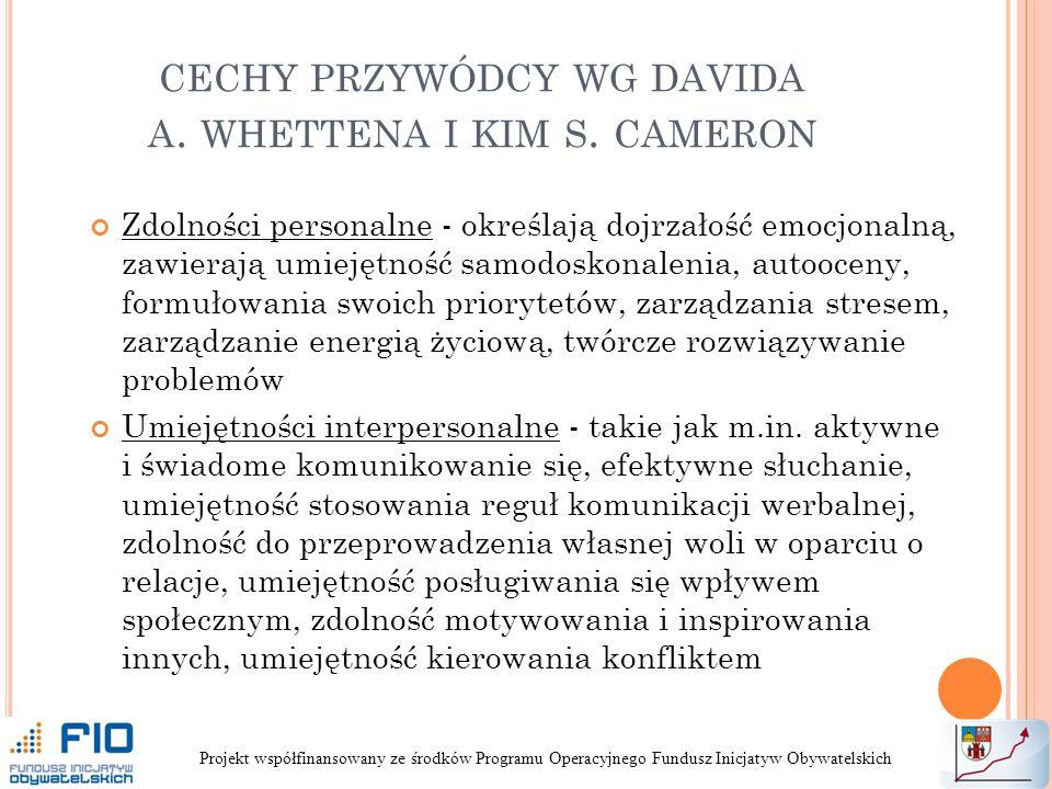 CECHY PRZYWÓDCY WG DAVIDA A.WHETTENA I KIM S.
