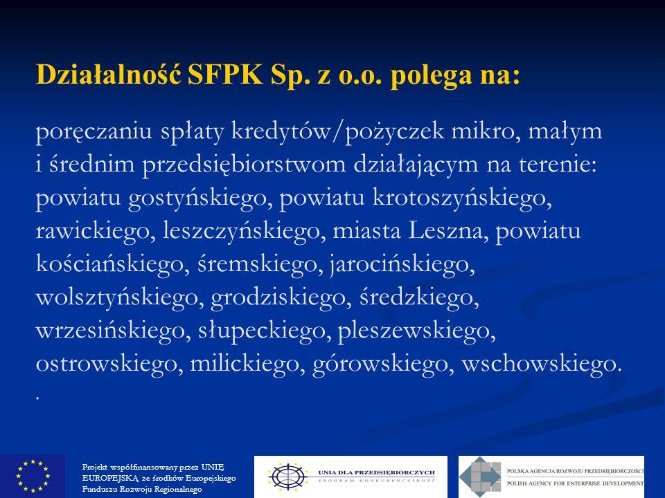 Działalność SFPK Sp. z o.o.