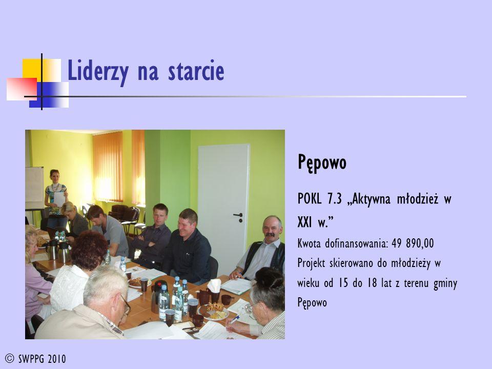 Liderzy na starcie Pępowo POKL 7.3 Aktywna młodzież w XXI w.