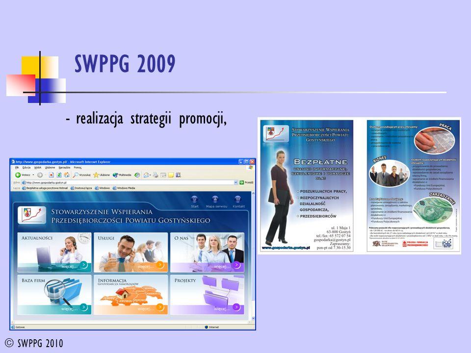 SWPPG 2009 - realizacja strategii promocji, © SWPPG 2010
