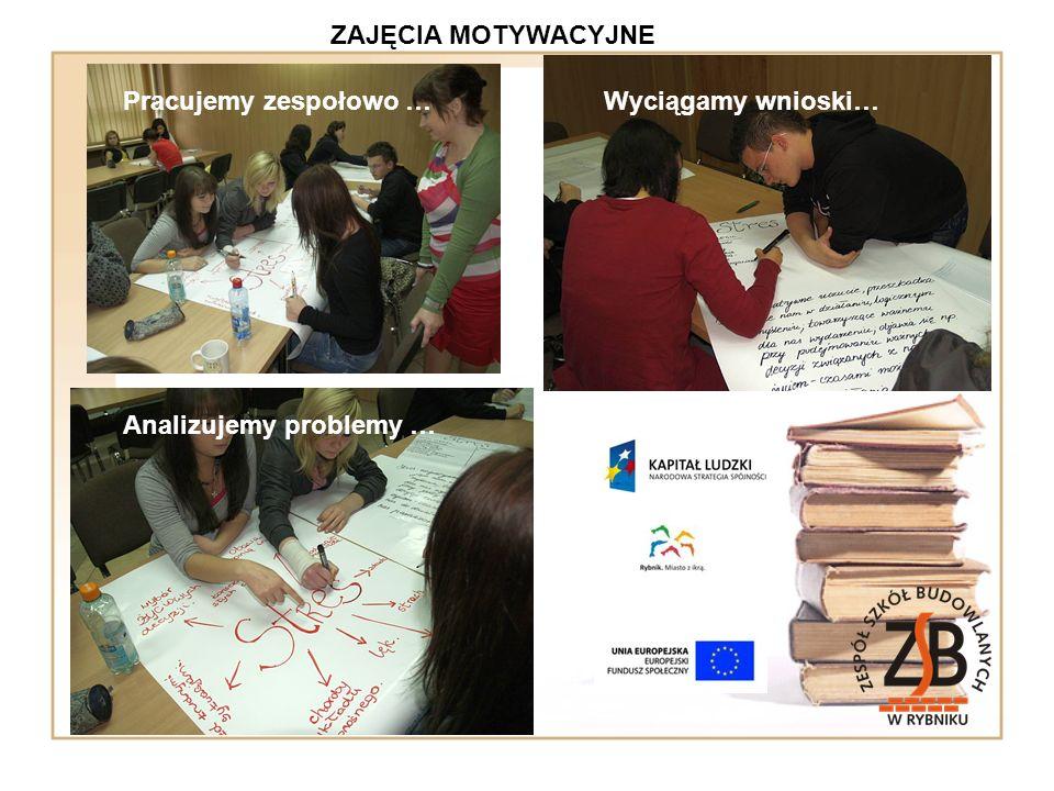 Pracujemy zespołowo …Wyciągamy wnioski… Analizujemy problemy …