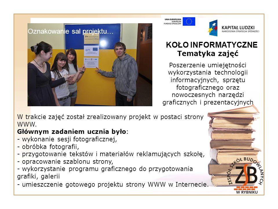 Tematyka zajęć Poszerzenie umiejętności wykorzystania technologii informacyjnych, sprzętu fotograficznego oraz nowoczesnych narzędzi graficznych i pre