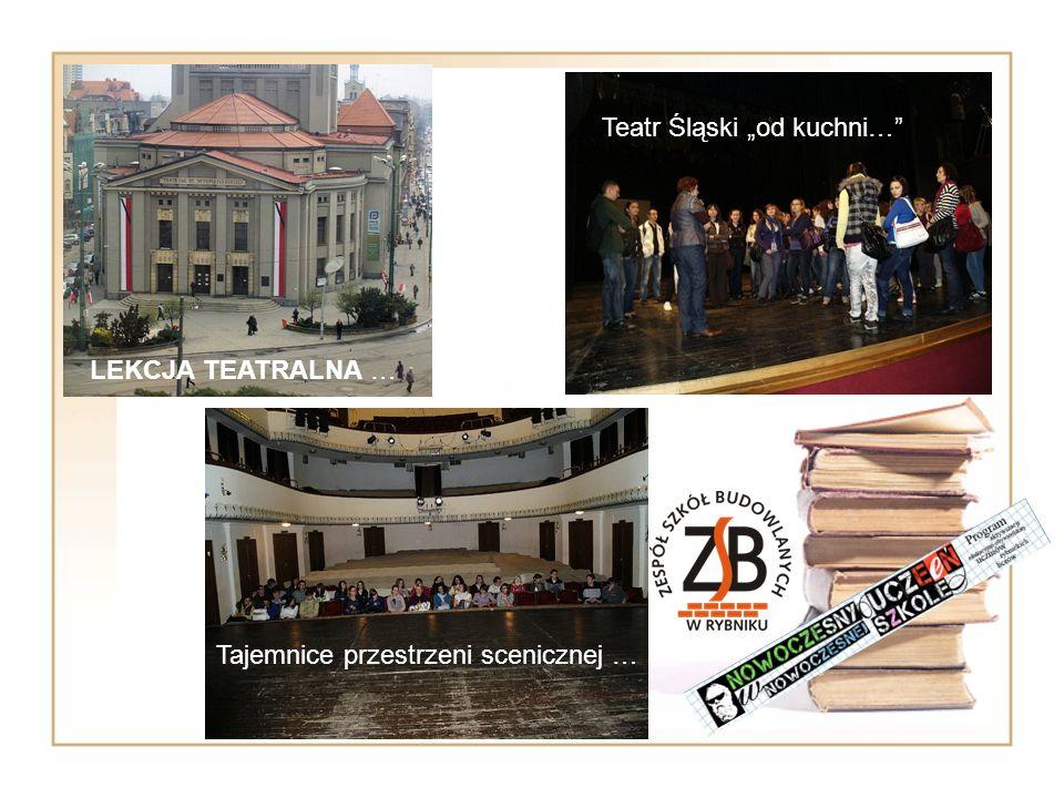 Tajemnice przestrzeni scenicznej … Teatr Śląski od kuchni… LEKCJA TEATRALNA …